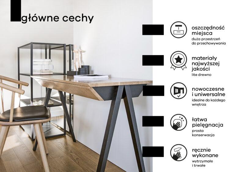 główne cechy drewnianego biurka