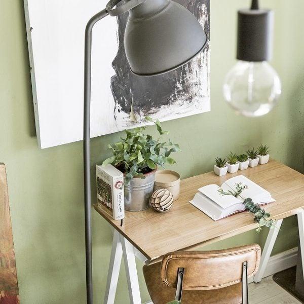 blat białego biurka vogel S w stylu skandynawskim