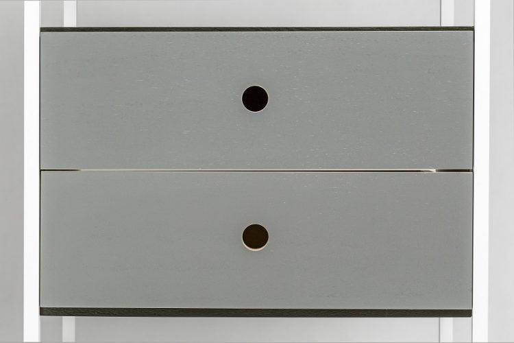 moduł szufladowy vind do regału sky - szara farba mat (RAL 7042)
