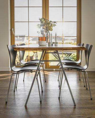 stół do jadalni north z blatem z litego drewna