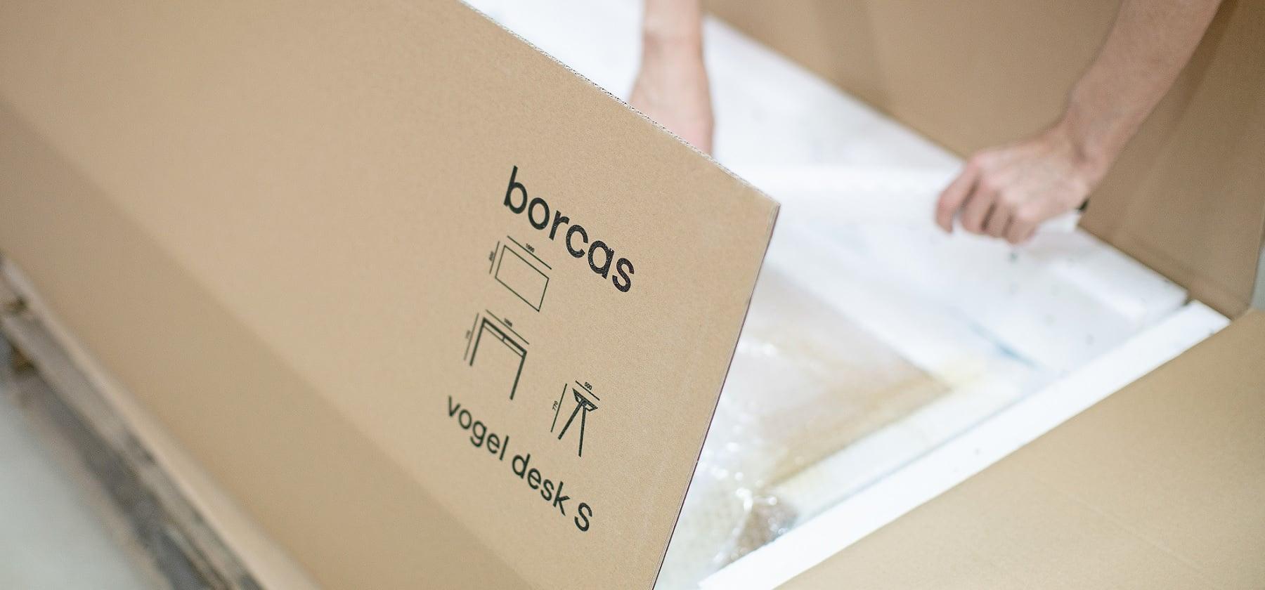 Pakowanie i wysyłka zamówienia borcas