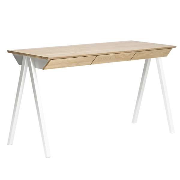 biurko drewniane vogel M białe