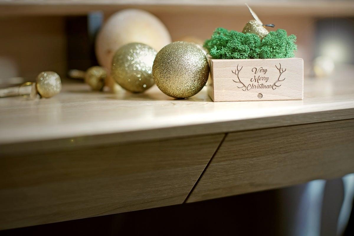 higrometr z grawerem very merry christmas