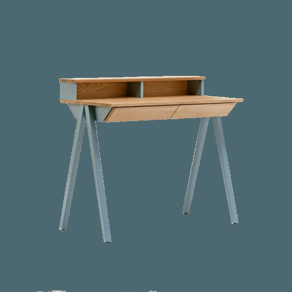 biurko drewniane vogel S błękitne w stylu skandynawskim