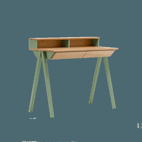 biurko w stylu skandynawskim vogel S miętowe z nadstawką