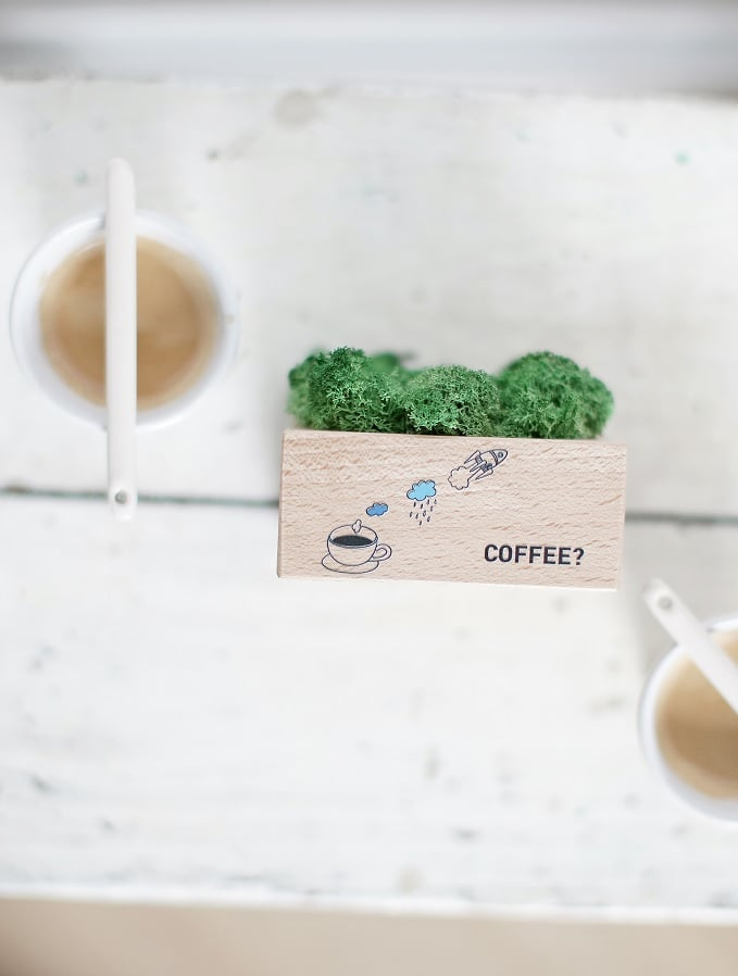 Higrometr z nadrukiem coffee
