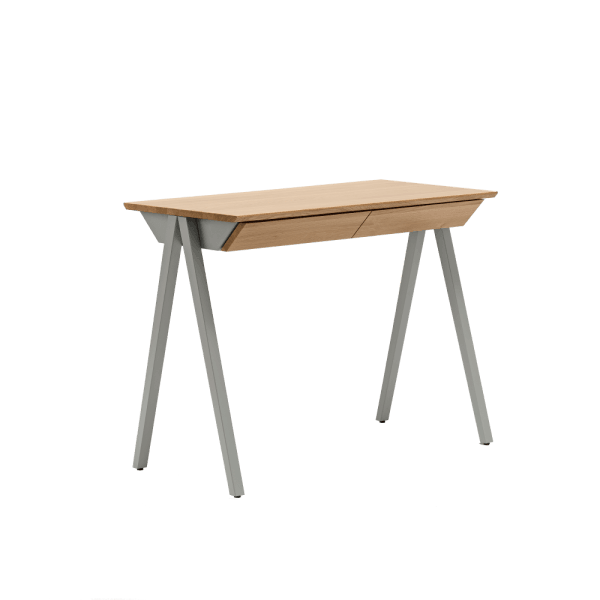 biurko drewniane vogel S szare
