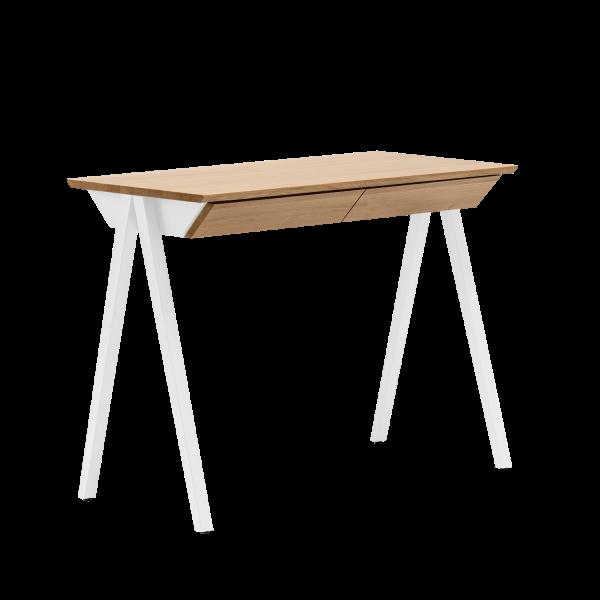 biurko drewniane białe vogel S