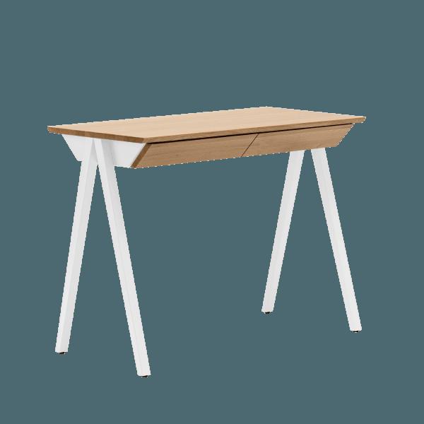 biurko drewniane białe vogel S z szufladami