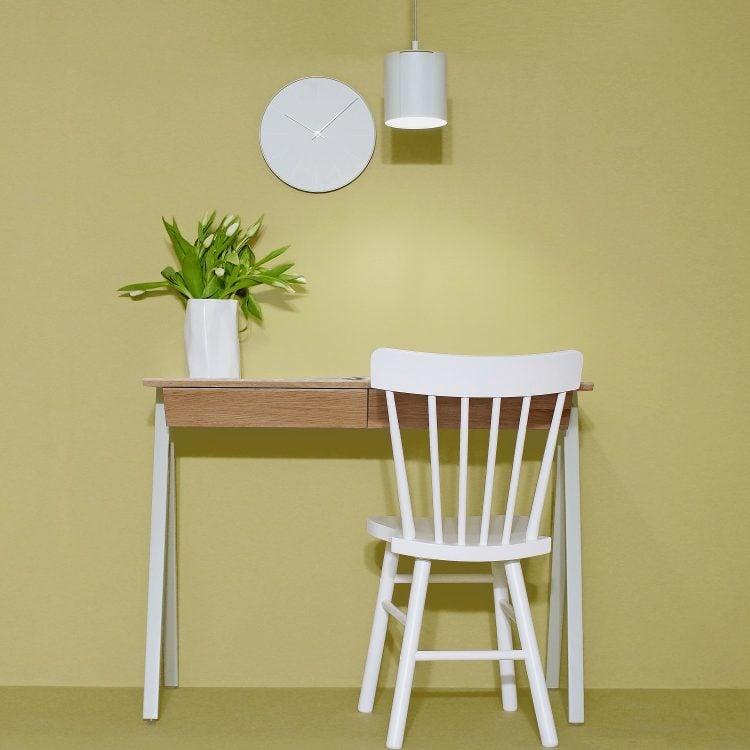 Lampa wisząca ogen - biurko drewniane vogel S białe