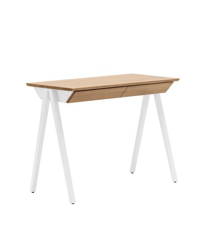 biurko drewniane vogel S białe w stylu skandynawskim z szufladami