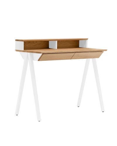 biurko drewniane vogel S białe w stylu skandynawskim