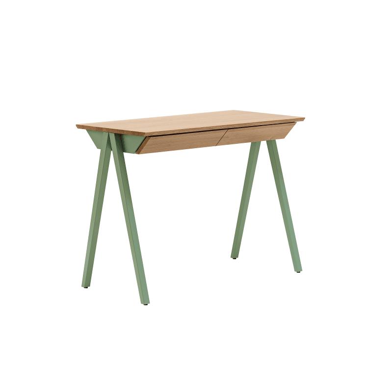 biurko w stylu skandynawskim vogel S miętowe z szufladami