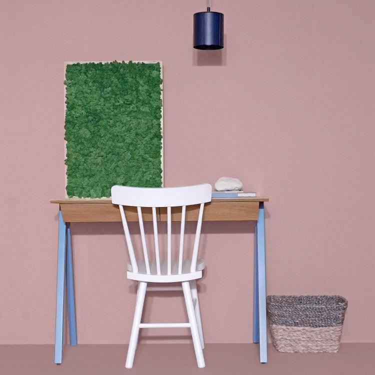 Błękitne biurko drewniane vogel S błękitne - przód biurka