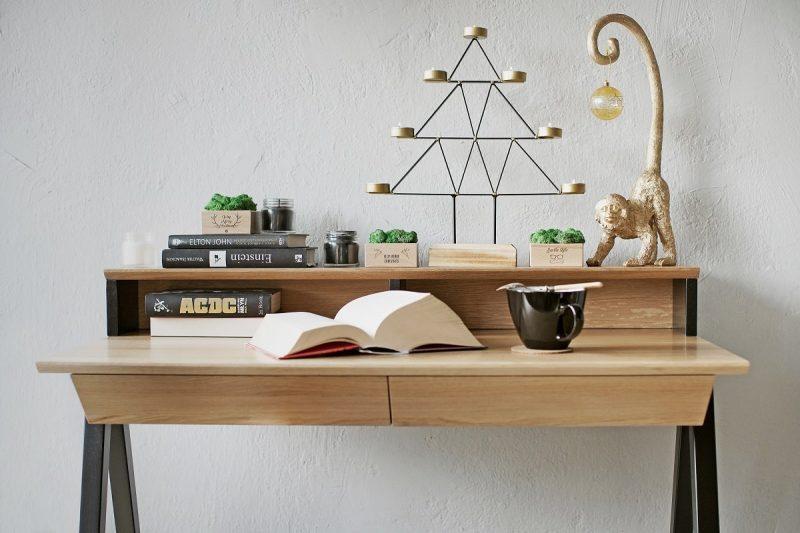 Drewniane biurko vogel S w wariancie z nadstawka