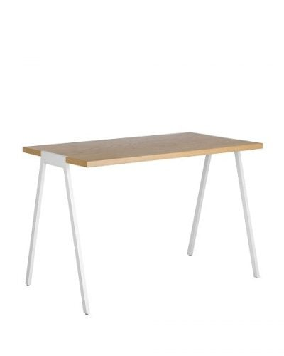 biurko w stylu skandynawskim fjord z kolekcji Oslo marki borcas z blatem fornirowanym