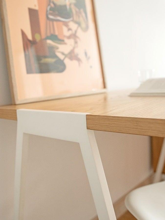 Białe biurko skandynawskie fjord
