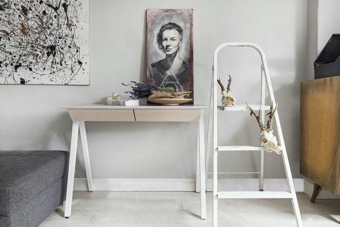 biurko bielone vogel s z litego drewna debowego oraz bukowego