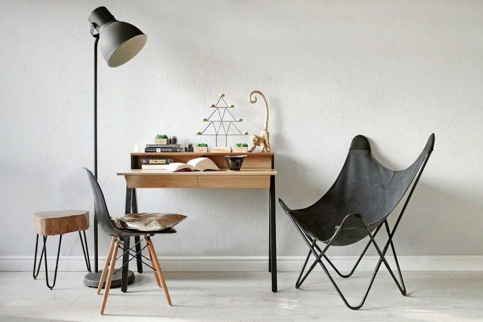 biurko drewniane vogel s z blatem dębowym i nogami bukowymi