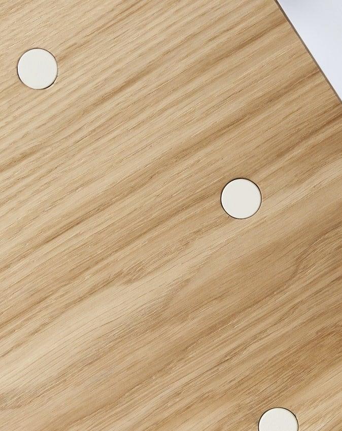 Blat dębowy biurka w stylu skandynawskim skog
