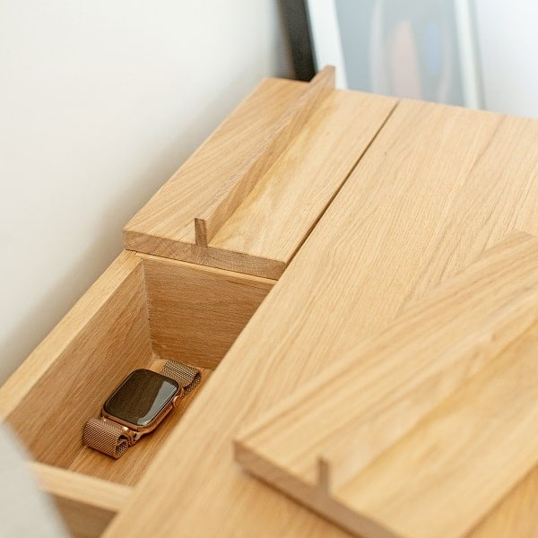 Stolik do sypialni w stylu skandynawskim troost