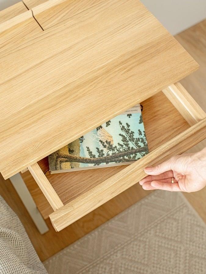Szafka nocna troost z szufladą w stylu skandynawskim