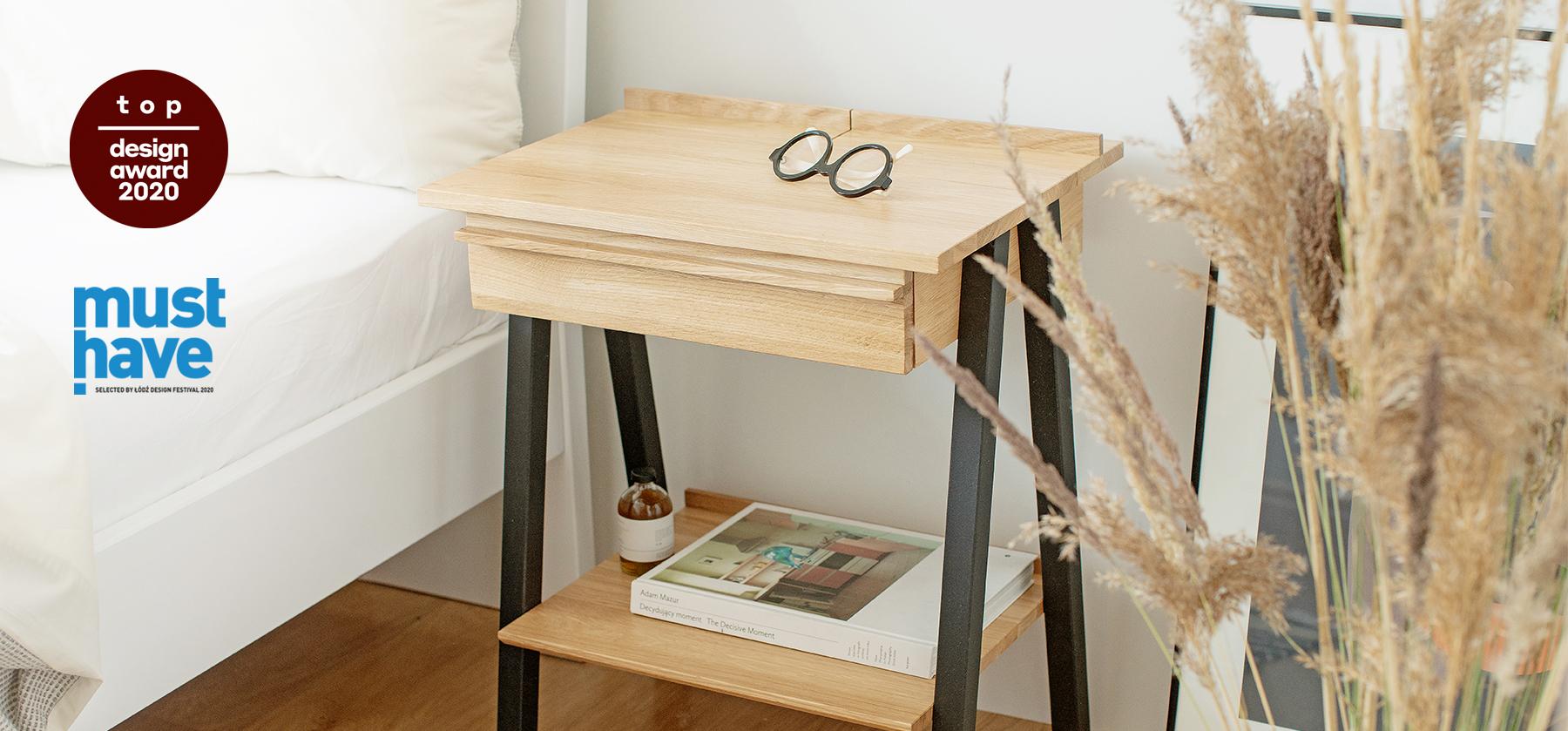 szafka nocna drewniana troost