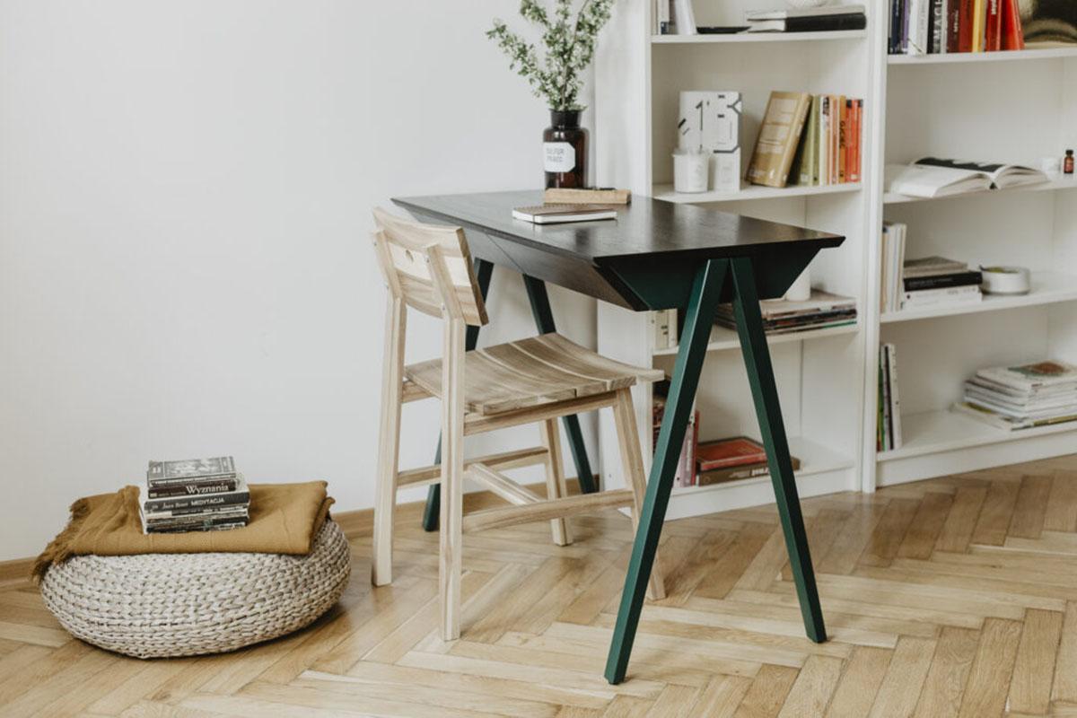drewniane meble na lata, biurko drewniane vogel